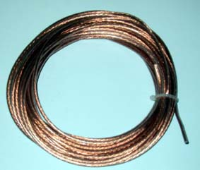 Antenna wire multi-stranded (clear PVC 50m roll)